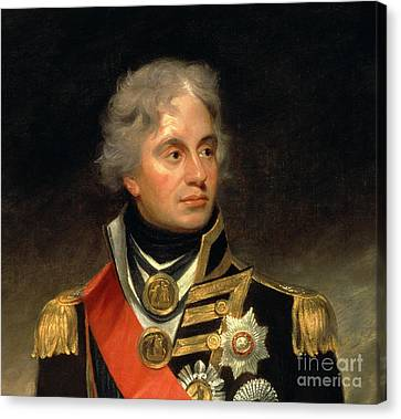 Horatio Viscount Nelson Canvas Print by Sir William Beechey