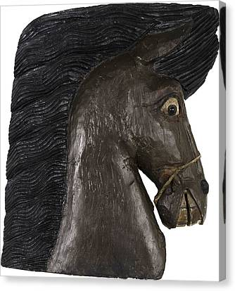 Canvas Print featuring the painting Horse Head by Unsigned