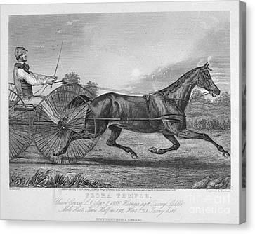 Horse Racing, 1857 Canvas Print