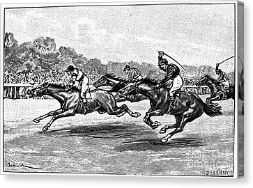Horse Racing, 1900 Canvas Print by Granger