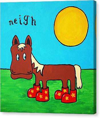 Canvas Print featuring the painting Horse by Sheep McTavish