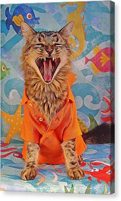 Canvas Print featuring the photograph Howl by Joann Biondi