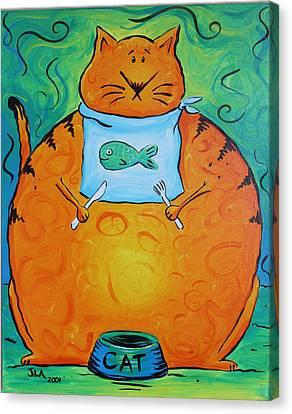 Hungry Cat Canvas Print by Jennifer Alvarez