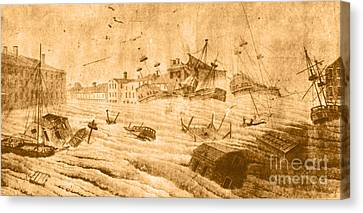 Hurricane, 1815 Canvas Print by Science Source