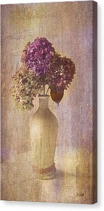 Hydrangea In Vase Canvas Print