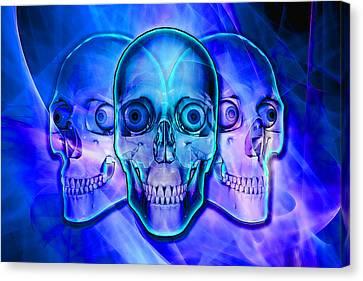 Illuminated Skulls Canvas Print