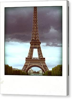 Illustration Of Eiffel Tower Canvas Print by Bernard Jaubert