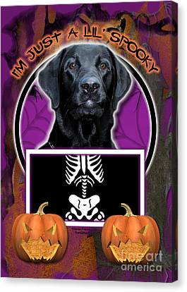 I'm Just A Lil' Spooky Labrador Canvas Print by Renae Laughner