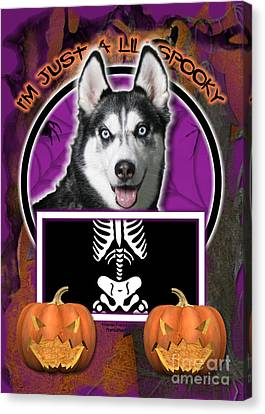 I'm Just A Lil' Spooky Siberian Husky Canvas Print by Renae Laughner