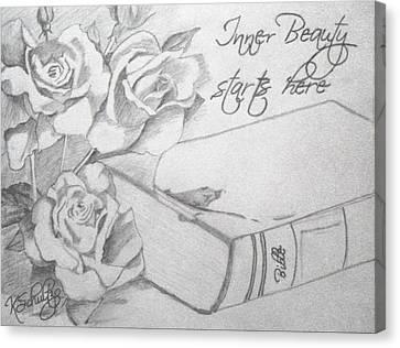 Inner Beauty Canvas Print by Kristina Schultz