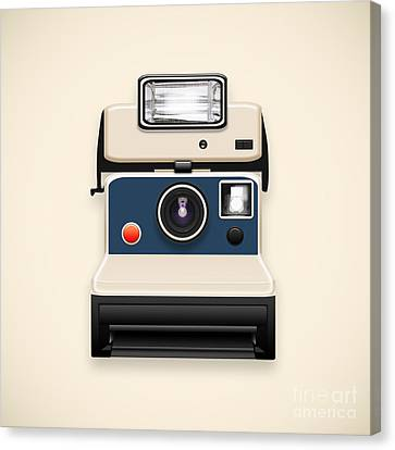 Instant Camera With A Blank Photo Canvas Print by Setsiri Silapasuwanchai