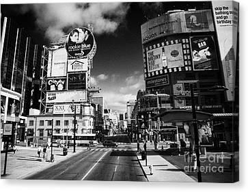Intersection Of Yonge And Dundas At Yonge-dundas Square Toronto Ontario Canada Canvas Print by Joe Fox