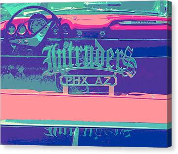Intruders Car Club Canvas Print by Chuck Re