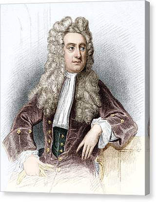 Isaac Newton, English Physicist Canvas Print by Sheila Terry