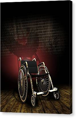 Isolation Through Disability, Artwork Canvas Print by Victor Habbick Visions
