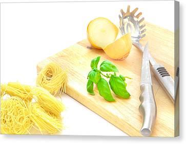 Italian Kitchen Canvas Print - Italian Food by Tom Gowanlock