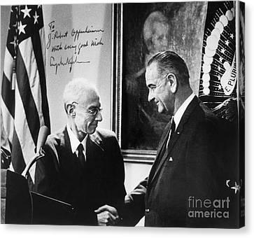 J. Robert Oppenheimer Canvas Print by Granger