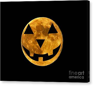 Jack-o-lantern Moon Canvas Print