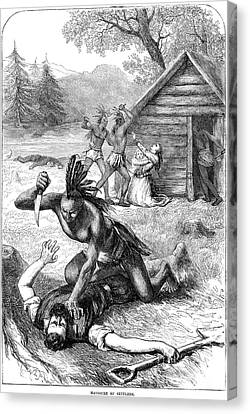 1622 Canvas Print - Jamestown: Massacre, 1622 by Granger