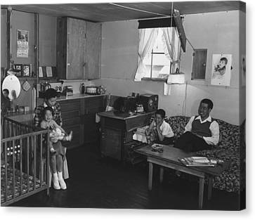 Japanese American Family Interned Canvas Print by Everett
