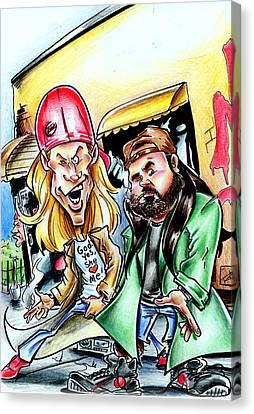 Jay And Silent Bob Canvas Print by Big Mike Roate