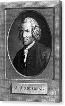 Jean-jacques Rousseau, Swiss Philosopher Canvas Print by Photo Researchers