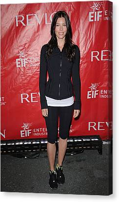 Jessica Biel At A Public Appearance Canvas Print by Everett
