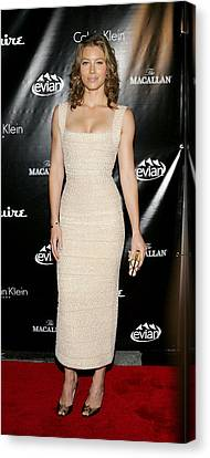 Jessica Biel At Arrivals For Esquire Canvas Print by Everett