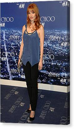 Jessica Chastain At Arrivals For Jimmy Canvas Print by Everett
