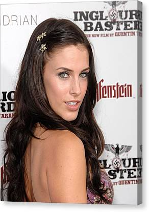 Jessica Lowndes At Arrivals Canvas Print