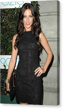 Jessica Lowndes At Arrivals For 90210 Canvas Print by Everett