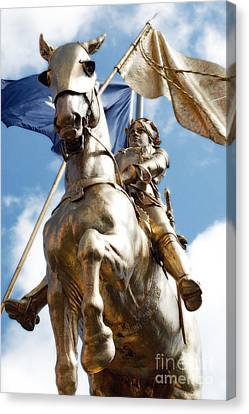 Landmarks Canvas Print - Joan Of Arc Statue French Quarter New Orleans Diffuse Glow Digital Art by Shawn O'Brien