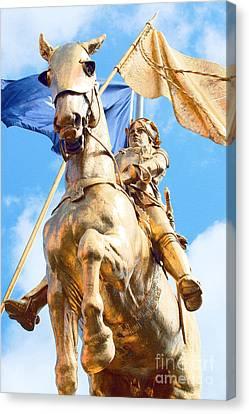 Joan Of Arc Statue French Quarter New Orleans Film Grain Digital Art Canvas Print by Shawn O'Brien