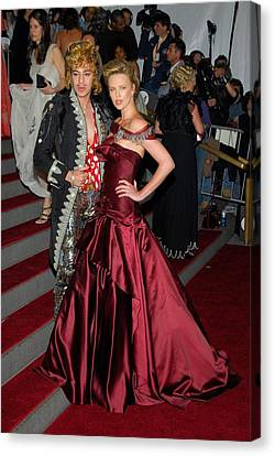 John Galliano, Charlize Theron Wearing Canvas Print