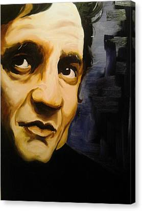 Johnny Cash Canvas Print by Matt Burke