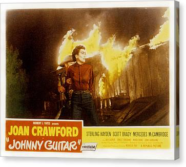 Johnny Guitar, Joan Crawford, Sterling Canvas Print by Everett