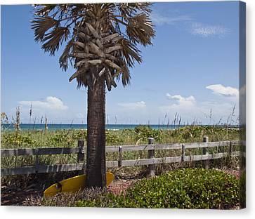 Juan Ponce De Leon Landing Site In Florida Canvas Print by Allan  Hughes