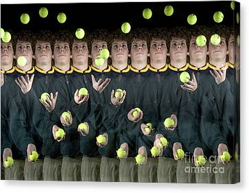 Juggler Canvas Print by Ted Kinsman