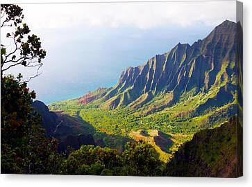 Kalalau Valley Lookout Kauai Canvas Print by Kevin Smith