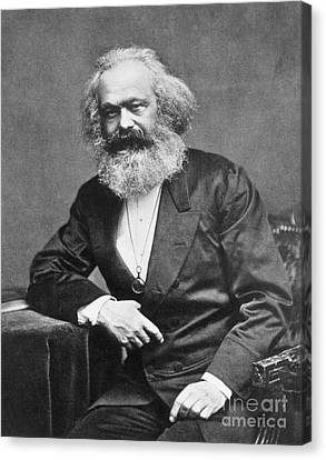 Karl Heinrich Marx, German Polymath Canvas Print by Photo Researchers