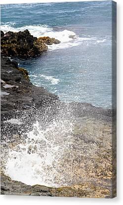 Kauai Spray Canvas Print by Linda Dunn