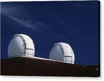 Keck Telescope Canvas Print - Keck I And II Observatories On Mauna Kea, Hawaii by David Nunuk