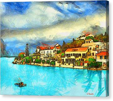 Kefalonia Fiscardo Canvas Print by George Rossidis