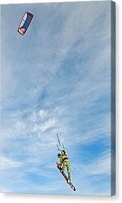 Kite Board Canvas Print by Elijah Weber
