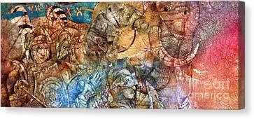 Knights Canvas Print by Svetlana and Sabir Gadghievs