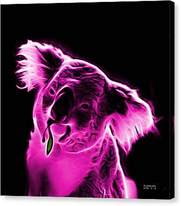 Koala Pop Art - Magenta Canvas Print by James Ahn