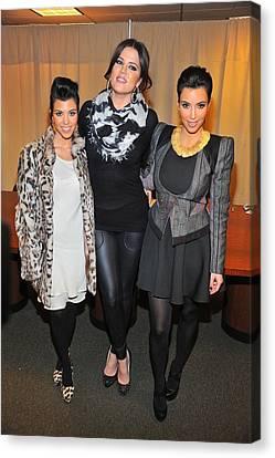 Kourtney Kardashian, Khloe Kardashian Canvas Print by Everett