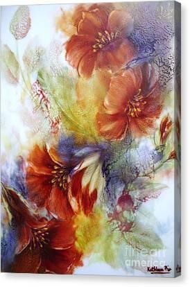 La Bignonia Rossa Canvas Print by Kathleen Pio