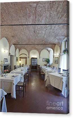La Grotta Restaurant Dining Room Canvas Print by Rob Tilley