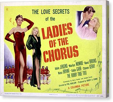 Ladies Of The Chorus, Adele Jergens Canvas Print by Everett